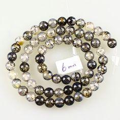 6mm Gemstone Dragon Veins Agate Ball Loose Beads 64pcs No 59800 | eBay