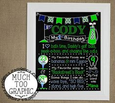 HOLE in ONE Boy's Boys Golf First Birthday by MuchTooGraphic