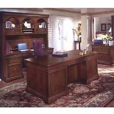 Chocolate Patina Four Piece Office Collection, SET