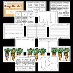 creepy carrots literacy activity Creepy, Literacy Activities, Carrots, Kindergarten, Floor Plans, Diagram, Carrot, Kindergartens, Preschool