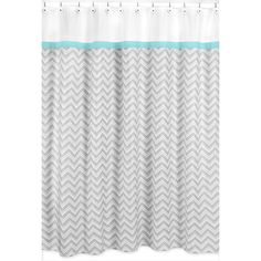 Turquoise/ Grey Zig Zag Shower Curtain | Overstock.com Shopping - Great Deals on Sweet Jojo Designs Shower Curtains