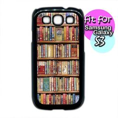 bookshelf unique book shelf  case for samsung galaxy s4 by etbay, $12.99 Galaxy 3, Samsung Galaxy S3, Shelf, Book, Unique Jewelry, Handmade Gifts, Etsy, Kid Craft Gifts, Shelving
