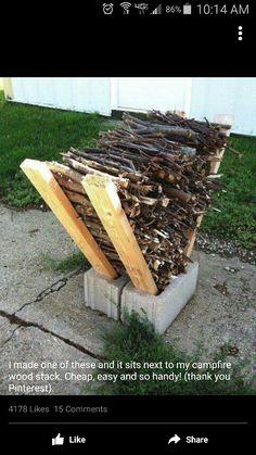 Wood pile holder