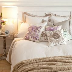 Bedding - Bedroom - United States of America. LOVE that entire bedding! including the cozy blanket and the gorgeous pillows