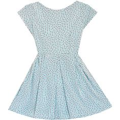 this is so sweet and girlie. with some patent leather oxfords. Bow Back Dresses, Blue Dresses, Blue Bow, Blue Polka Dots, Dot Dress, Oxfords, Aud, Patent Leather, Bows