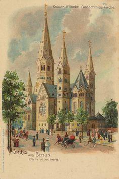 Berlin, Charlottenburg, Berlin: Kaiser-Wilhelm-Gedächtniskirche, um 1902.