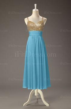 Light Blue Glamorous Empire Sweetheart Floor Length Sash Graduation Dresses - iFitDress.com