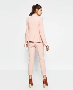 RELAXED FIT CREPE TROUSERS