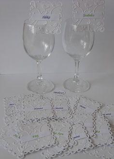 Dombormintás ültetőkártya - pohárjelölő