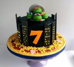 Ninja Turtles themed birthday cake via Swirls Bakery in Nottingham.