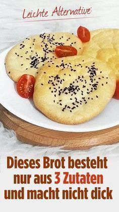 "Cloud-Brot: Knuspriges Brot ohne Mehl für Kalorienbewusste - DELICIOUS - ""Cloud bread"" from only three ingredients! Airy, light with fewer calories and no carbohydrates! Cloud Bread, Low Carb Recipes, Soup Recipes, Healthy Recipes, Drink Recipes, Bread Recipes, Pan Nube, Law Carb, Salsa Dulce"