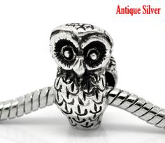 Owl Charms for Euro Bracelets Silver Tone on #tophatter @ 11PM EST 12/17 http://tophatter.com/auctions/11067