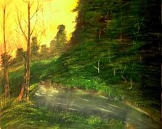"""""""Deep Forest"""" #Creative #Art in #painting @Touchtalent"""