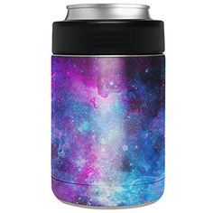 Amazon.com : Aretty - Blue Space Galaxy Star Nebula Vinyl Skin Decal for the Yeti Rambler Colster (Colster Not Included) : Sports & Outdoors