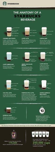 [인포그래픽]우리가 먹는 스타벅스 음료들 - 재료가 뭐가 들어갈까?