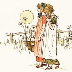 Free Vintage Image ~ Victorian Girls by Kate Greenaway