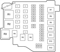 Under-hood fuse box diagram: Ford Fiesta (2012, 2013