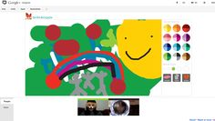 Loving creating things together at Scoot & Doodle on G+ Hangouts.
