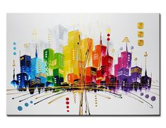 Peinture d´acrylique sur toile sur chassis. Tableaux, art contemporain.