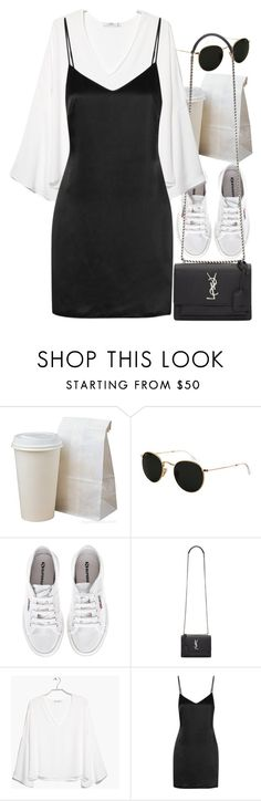"""""""Untitled #9276"""" by nikka-phillips ❤ liked on Polyvore featuring Ray-Ban, Superga, Yves Saint Laurent, MANGO and La Perla"""