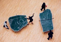 cartographic ping pong tables Art that you can play on!!