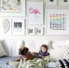 Colorful and cool gallery wall from Jillian Harris