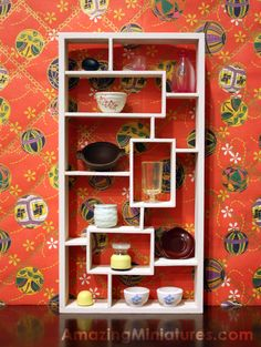 Decorated the modern bookcase with Rement goodies