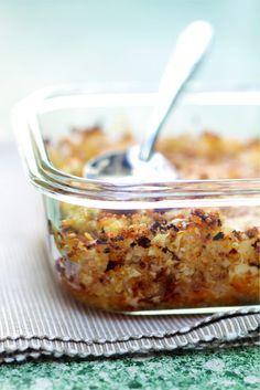 Croustillants de quinoa au chou-fleur et au comté par Julie Andrieu                                                                                                                                                                                 Plus