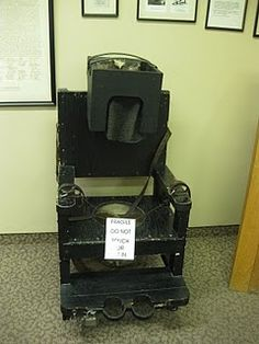 Chair used to calm hysterical patients... seriously?  Glad I didn't live back then or I'm SURE I'd know what this was!  lol