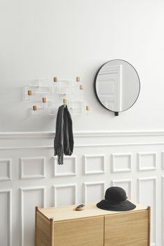 Kollage mirror, Underground coat rack and Sceene bookshelf