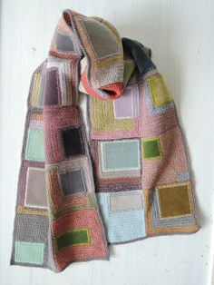 Sophie Digard crochet scarf,  Love the velvet applique.