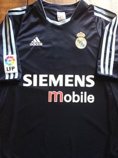 bafbdd95d Relive Real Madrid s 2003 2004 season with this vintage Adidas away  football shirt. Real