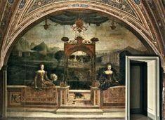 Portraits de femmes face à un paysage, 1543-46 Alessandro Moretto da Brescia