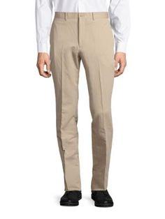 MICHAEL KORS Cotton-Blend Flat-Front Pants. #michaelkors #cloth #pants