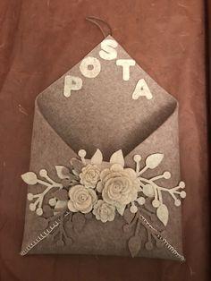 Porta lettere in marrone