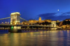 Chain Bridge, Royal Palace And Danube River In Budapest, Hungary by Elenarts - Elena Duvernay photo Danube River, Royal Palace, Famous Places, Budapest Hungary, Tower Bridge, Travel Photos, Fine Art America, Travel Pictures