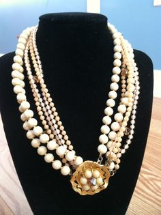 Layered Vintage Necklace by thistletreasures on Etsy, $20.00