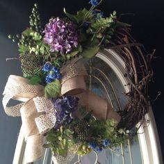 Spring wreath Summer Front door wreath by angieswreathsandmore