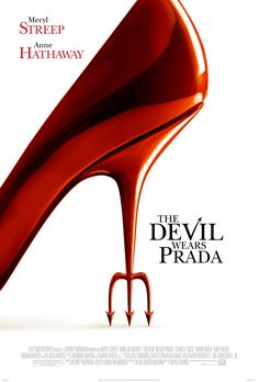 The Devil Wears Prada - Meryl Streep, Anne Hathaway, Emily Blunt & Stanley Tucci - A naive young woman comes to New York and scores a job as the assistant to one of the city's biggest magazine editors, the ruthless and cynical Miranda Priestly. Devil Wears Prada, Meryl Streep, Stanley Tucci, Chick Flicks, See Movie, Movie List, Movie Titles, Anne Hathaway, Film Music Books