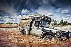 Toyota Land Cruiser Series 75 in an excellent off-road photo