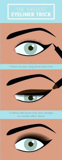 6. Easiest Eyeliner Trick   17 Great Eyeliner Hack for Makeup Junkies   Makeup Tutorial