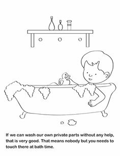 Printable Good Touch Bad Coloring Book   Coloring Pages for Familly ...