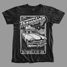 Traveling T-shirt clip art