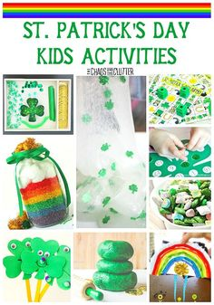 With St. Patrick's Day approaching, here are some fabulous St. Patrick's Day kids activities and ideas that you may be able to use with your family.