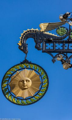 "Gasthaus Sonne by SafariBear Photography / Architecture / Other  ©2011-2014 SafariBear Tavern Sign of the Tavern ""Sun"" in Schwäbisch Hall, Germany."