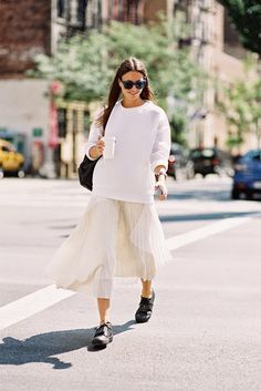 pleats please. Zina in NYC. #Fashionvibe