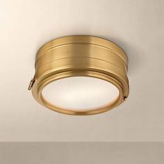 "Hudson Valley Rye 11"" Wide Aged Brass Ceiling Light"