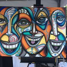 Peinture moderne Original beaux-arts par BlestCollective sur Etsy