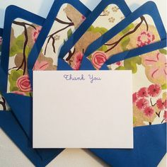 Pretty stationery set - Danvers Thank You Stationery – inviting : letterpress boutique