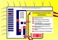 Car Rental At Alicante Airport Arrival Area